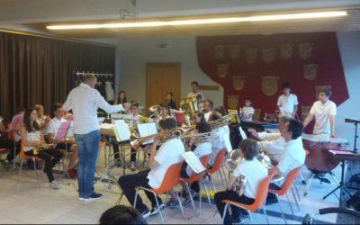 Camp de musique 2017 avec les jeunes de l'Echo du Rawyl à Itravers.